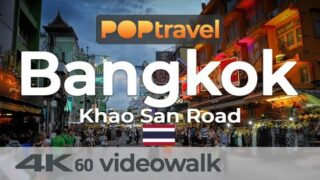 Walking around KHAOSAN ROAD / BANGKOK (Thailand) – 4K 60fps (UHD)