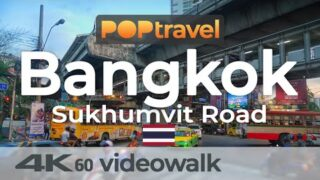 Walking in BANGKOK / Thailand 🇹🇭- Sukhumvit Road – 4K 60fps (UHD)