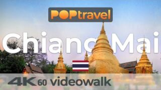 Walking in CHIANG MAI / Thailand – 4K 60fps (UHD)