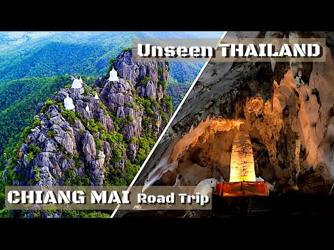 CHIANG MAI road trip by motorbike / Sky Pagoda, Tree Top Restaurant, Muang On Cave / Thailand Travel